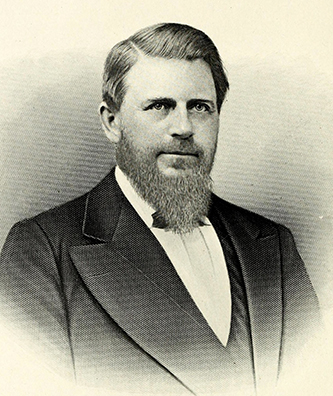 An engraving of Joseph Henry Baker published in 1917. Image from the Internet Archive / N.C. Goverment & Heritage Library.