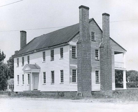 Photo of Barker House, Edenton, NC Built about 1782 by Thomas & Penelope Barker. Courtesy of the NC Museum of History.