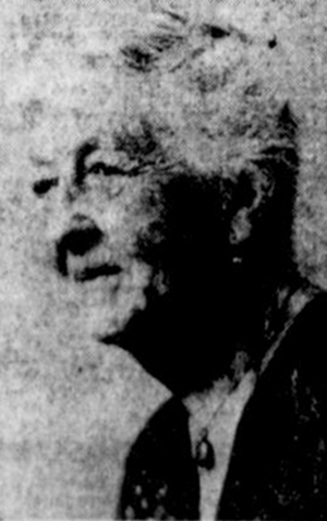 Photograph of Lila Ripley Barnwell, from the <i>Times-News</i> (Hendersonville, NC), March 7, 1961.  From Google News.  Used by permission of the TImes-News Online.