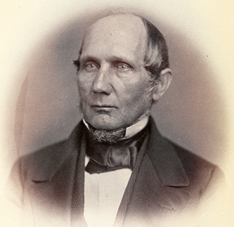 Photograph of Asa Biggs, 1859. Image from the Library of Congress.