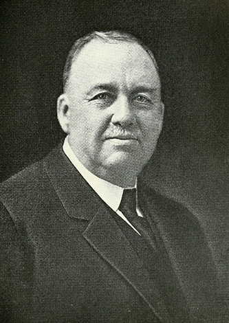 A photograph of James Bishop Blades published in 1919. Image from the Internet Archive.