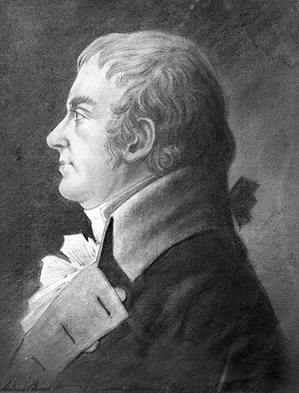 A photograph of a pastel drawing of Adam Boyd by an unknown artist, circa 1790-1803. Image courtesy of the Collection of the Museum of Early Southern Decorative Arts (MESDA) at Old Salem.