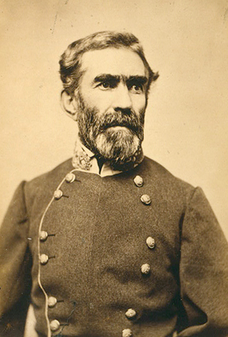 A photograph of Braxton Bragg. Image from the Library of Congress.