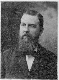 A photograph of the Rev. Levi Branson, circa 1898. Image courtesy the N.C.Government and Heritage Library.