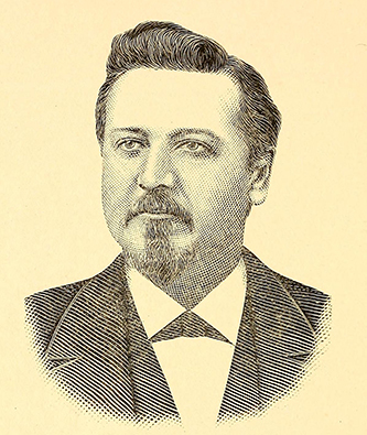 An engraving of John Bruce Brewer published in 1889. Image from the Internet Archive.