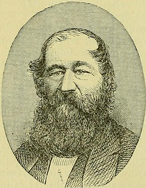An engraving of Iveson Lewis Brooks published in 1881. Image from the Internet Archive.