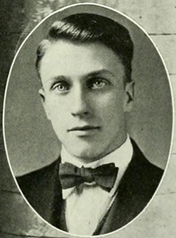 A photograph of Cecil Kenneth Brown from the 1921 Davidson College yearbook. Image from the Internet Archive.