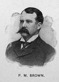 A photograph of Peter Marshall Brown published in 1899. Image from the Library of Congress.