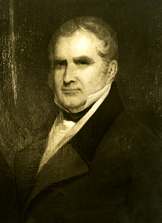 A photograph of a portrait of Peter Browne. Image courtesy the Southern Historical Collection, Wilson Library, University of North Carolina at Chapel Hill.