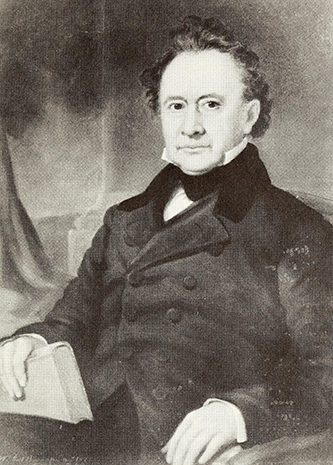 Photograph of a portrait of John Herritage Bryan by William Garl Brown.
