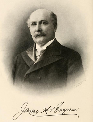 Portrait of William Augustus Bryan, circa 1916.  In Leonard Wilson's <i>Makers of America Volume II,</i> published 1916.  From Archive.org.