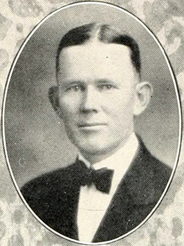 A photograph of Leslie Hartwell Campbell from the 1927 Campbell College yearbook. Image from the Internet Archive.