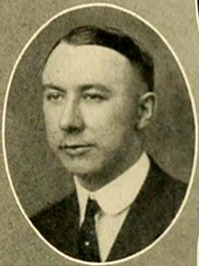 A photograph of professor James Cannon III from the 1925 Duke University yearbook. Image from the University of North Carolina at Chapel Hill.