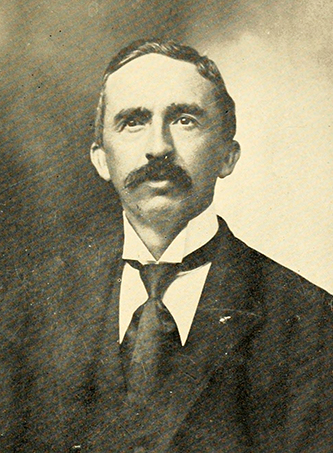 A photograph of professor John Bethune Carlyle from the 1909 Wake Forest College yearbook. Image from the University of North Carolina at Chapel Hill.