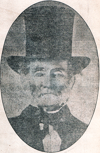 A photograph of Eli Washington Caruthers printed in a 1922 newspaper article. Image from the North Carolina Government and Heritage Library.