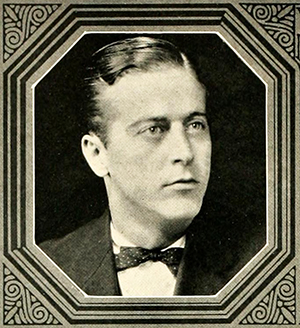 A photograph of Theron Lamar Caudle from the 1926 Wake Forest College yearbook. Image from the Internet Archive.