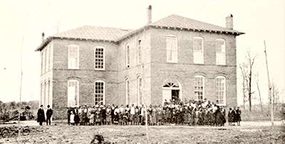A photograph of the Martin County Training School published in 1917. Image from the Internet Archive.