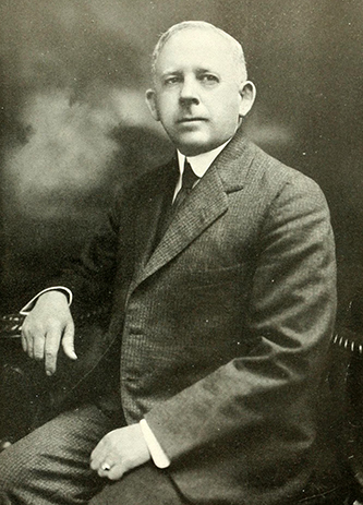 A photograph of Hugh Gwn Chatham published in 1919. Image from the Internet Archive.