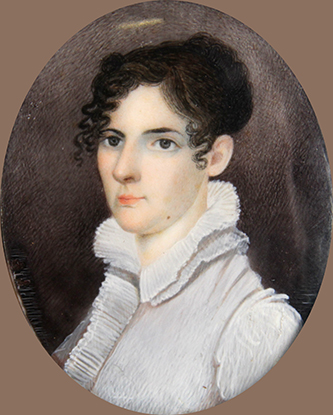 A miniature portrait of Richard Cogdell's daughter Ann Cogdell, who married John Wright Stanly. Image courtesy of Tryon Palace.