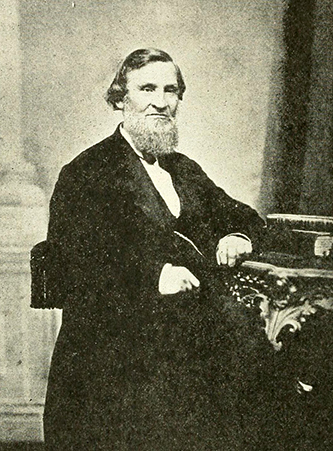 A photograph of William Dewey Cooke (1811-1885) published in 1919. Image from the Internet Archive.