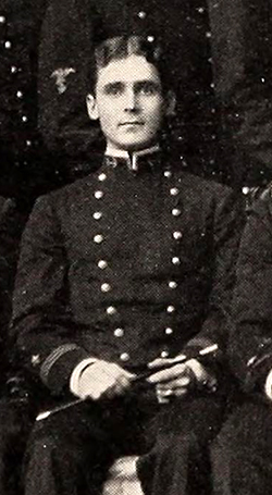 A photograph of Lyman Atkinson Cotten from the 1898 United States Naval Academy yearbook. Image from the Internet Archive.