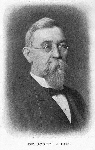 A photograph of Dr. Joseph John Cox published in 1904. Image courtesy of the Heritage Research Center, High Point Public Library.
