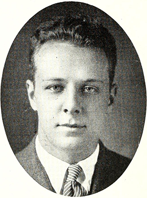 A 1921 photograph of Jonathan Worth Daniels while editor of student newspaper The Daily Tar Heel. Image from Archive.org.