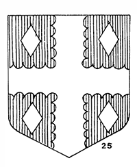 Drawing of the coat-of-arms granted Ananias Dare as one of the 12 assistants of governor John White. Image from the North Carolina Digital Collections.