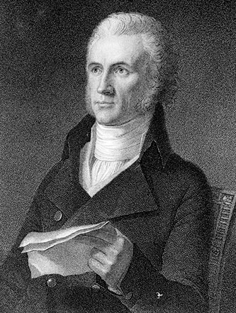 Engraving of William Richardson Davie after the portrait by John Vanderlyn. Image from the State Archives of North Carolina.