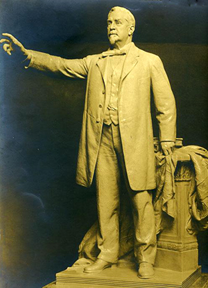 Photograph of a statue of George Davis by sculptor Francis H. Packer. It was unveiled April 20, 1911. Image from the North Carolina Museum of History.