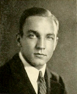 A photograph of George Vernon Denny, Jr. from the 1922 University of North Carolina yearbook. Image from the Internet Archive.