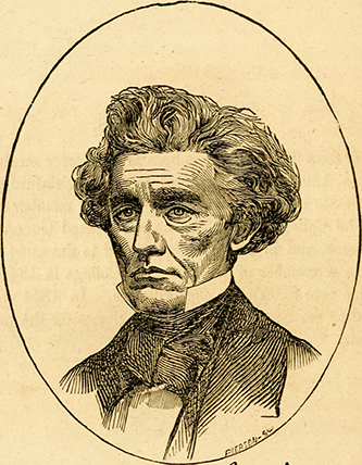 An engraving of Archibald Dixon pulished in 1856. Image from the Internet Archive.