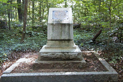 A photograph of the Hal Dixon Monument at the Guilford Courthouse National Military Park. Image from the National Park Service.