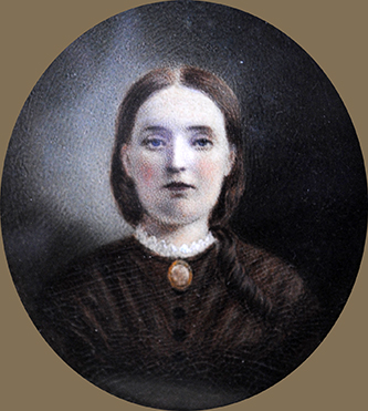 A miniature portrait of Frances Donnell Shepard, wife of James Biddle Shepard. Image courtesy of Tryon Palace.