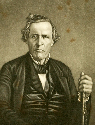 An engraving of Rev. Robert Donnell published in 1867. Image from the Internet Archive.