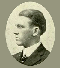 A photograph of William Carey Dowd, Jr. from the 1914 University of North Carolina yearbook. Image from the Internet Archive.