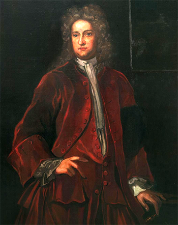 Portrait of Sir William Berkeley, governor of Virginia, who had William Drummond executed. Image from the Encyclopedia Virginia.