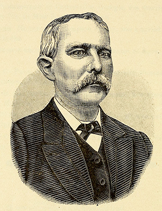 An engraving of John Edward Dugger published in 1888. Image from the Internet Archive.
