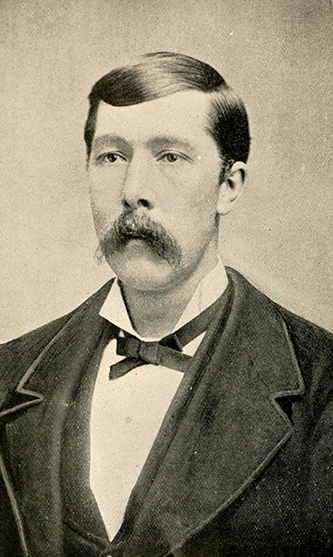 A photograph of Shepherd Monroe Dugger published in 1892. Image from the Internet Archive.