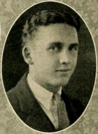 A photograph of Alonzo Clay Edwards from the 1924 Trinity College yearbook. Image from the Internet Archive.