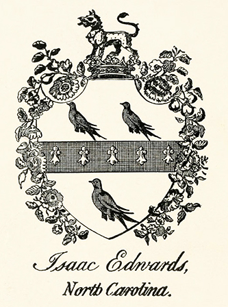 The coat of arms of Isaac Edwards. Image from Archive.org.