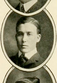 A photograph of Reuben Oscar Everett from the 1903 University of North Carolina yearbook. Image from the Internet Archive.
