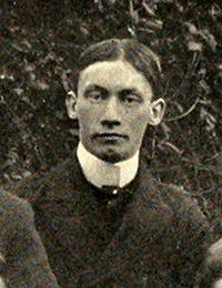 "A photograph of Garland Sevier Ferguson Junior from his fraternity group picture in the 1900 University of North Carolina yearbook. ""Kappa Alpha Fraternity."" Photograph. The Hellenian vol. 11. [Chapel Hill]: The Fraternities of the University of North Carolina. 1900. 55."