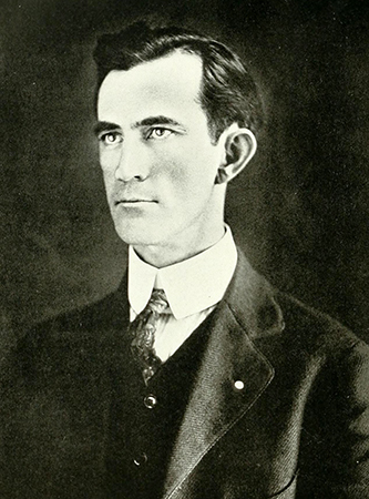 A photograph of a portrait of John Hamlin Folger. Image from the Internet Archive.