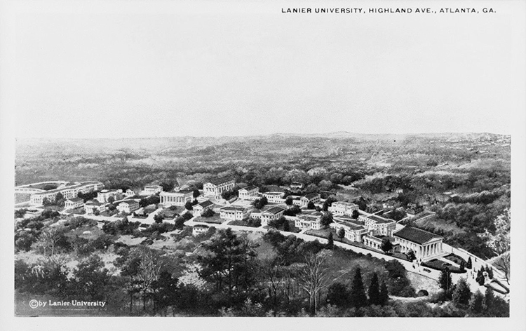 """Postcard of Lanier University, Atlanta, Fulton County, Georgia, ca. 1900-1939?"" Photograph. Courtesy, Georgia Archives, Vanishing Georgia Collection, ful0055."