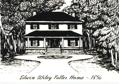 Edwin Wiley Fuller's home in 1856, courtsey of North Carolina Highway Historical Marker Program.