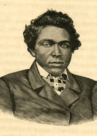 Engraved portrait of Abraham Galloway.  From William Still's <i>Underground Railroad</i>, p. 150-151, published 1872, by Porter & Coates, Philadelphia.  From the collections of the Government & Heritage Library, State Library of North Carolina.