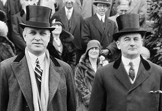North Carolina governors O. Max Gardner and Angus W. McLean at Gardner's inauguration, 1929. Image from the North Carolina Museum of History.