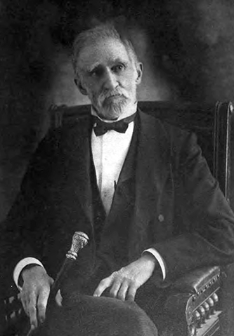"""Robert S. Gould. Professor of Law. 1883- 1904."" Photograph. The University Record (University of Texas) 6, no. 3 (February 1906). Frontispiece."