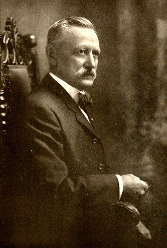 A photograph of Hiram Louis Grant published in 1919. Image from the Internet Archive.